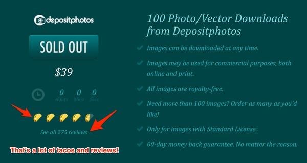 Depositphotos old AppSumo promo